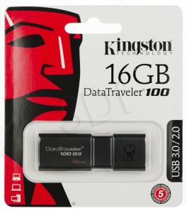 Kingston Flashdrive DataTraveler 100 G3 16GB USB 3.0 Czarny