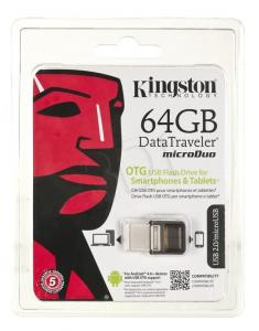 Kingston Flashdrive DataTraveler microDuo 64GB USB 2.0 Brązo