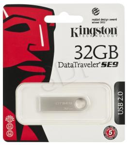 Kingston Flashdrive DataTraveler SE9 32GB USB 2.0 Srebrny