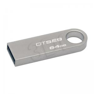 Kingston Flashdrive DataTraveler SE9 64GB USB 2.0 Srebrny